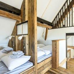 Zolder slaapruimte Sea Barn verhuur huizen vakantie Zeeland